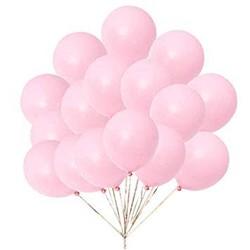 1 - Makaron Pembe 10 Lu latex Balon Küçük Boy (1)