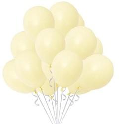 Parti Dünyası - Makaron Sarı 10 Lu Latex Balon Normal Boy (1)