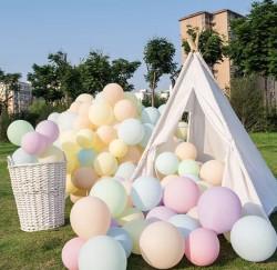 Parti - Makaron Soft Renkler Karışık Balon 10 Adet Normal Boy