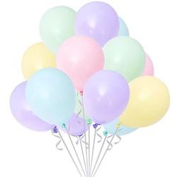 Parti Dünyası - Makaron Soft Renkler Karışık Balon 10 Adet Normal Boy (1)