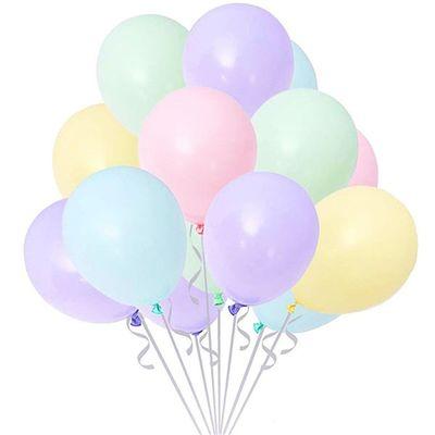 Makaron Soft Renkler Karışık Balon 10 Adet Normal Boy