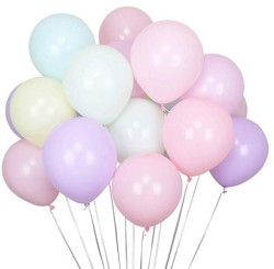 Parti Dünyası - Makaron Soft Renkler Karışık Latex Balon 100 Adet Normal Boy (1)