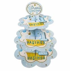Parti Dünyası - Mavi 1 Yaş Prens Kek Standı