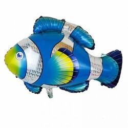 Parti Dünyası - Mavi Balık Folyo Balon 71 x 90 cm