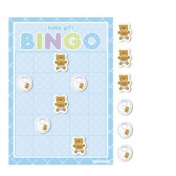Parti Dünyası - Mavi Bebek Ayıcık Bingo Oyunu