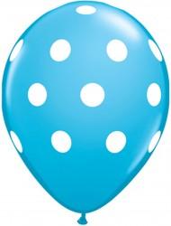 Parti Dünyası - Mavi Beyaz Puanlı 100 Lü Balon