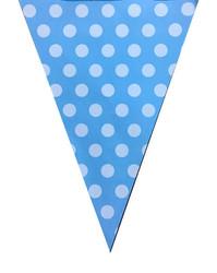 Parti Dünyası - Mavi Beyaz Puanlı Bayrak Afiş