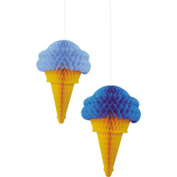 Parti Dünyası - Mavi Dondurma 2 Li Petek Süs