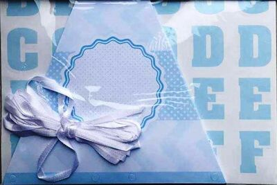 Mavi Kişiselleştirilebilir Bayrak Afiş ve Harf Seti