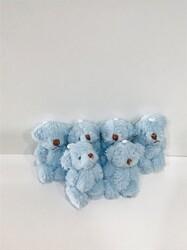 Parti - Mavi Mini Peluş Ayıcıklar 6 Adet 4 cm