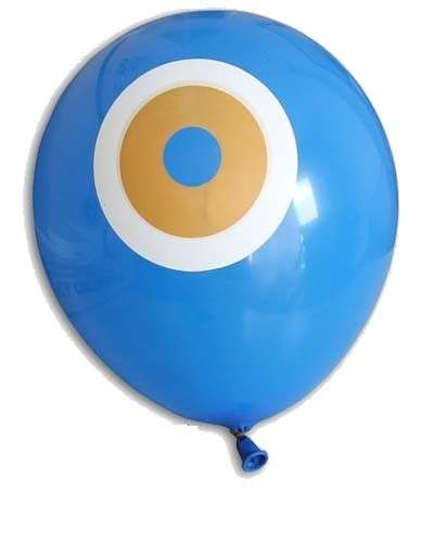 Mavi Nazar Boncuğu 10 lu Latex Balon