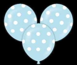 Parti - Mavi Puanlı Çepeçevre Baskılı Balon 10 Adet