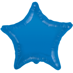 Parti - Mavi Renkli Yıldız Folyo Balon (45 cm )