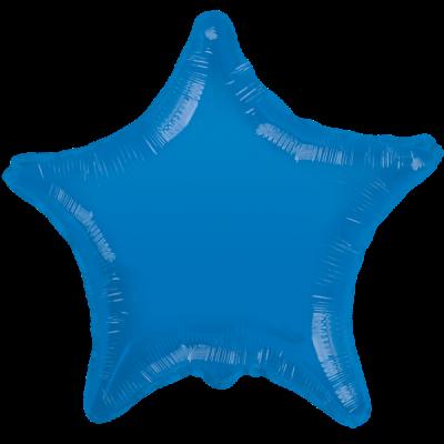 Mavi renkli yıldız folyo balon (45 cm )