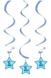 Parti Dünyası - Mavi Yıldız 1 Yaş Süs Dalgası 3 Adet