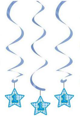 Mavi Yıldız 1 Yaş Süs Dalgası 3 Adet