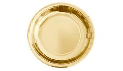 Parti Dünyası - Metalize Altın Renk Tabak 23 cm 8 Adet