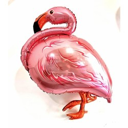 Parti - Metalize Pembe Flamingo Folyo Balon 127 CM