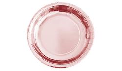Parti Dünyası - Metalize Rose Gold Tabak 23 cm 8 Adet