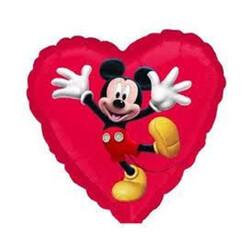 Parti Dünyası - Mickey Mouse Kalp Folyo Balon 45 cm