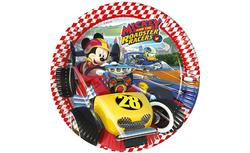 Parti Dünyası - Mickey Roadster Tabak 23 cm 8 Adet