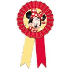 Parti Dünyası - Minnie Mouse Kırmızı Rozet1 Adet