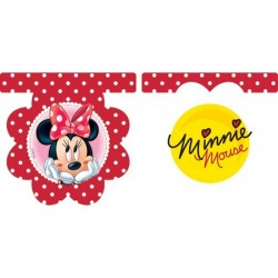 Parti Dünyası - Minnie Mouse Kırmızı Çiçekli Bayrak Afiş