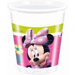 Parti Dünyası - Minnie Mouse Junior 8 li Plastik Bardak