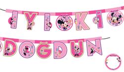 Parti Dünyası - Minnie Mouse Kişiselleşen İyi Ki Doğdun Harf Afiş