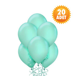 Parti Dünyası - Mint Yeşili 20 Li Latex Balon