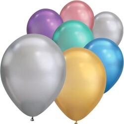 Parti Dünyası - Mirror Krom Balon Karışık Renkler 20 Adet