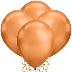 Parti Dünyası - Mirror Krom Balon Bakır Renk 50 Adet