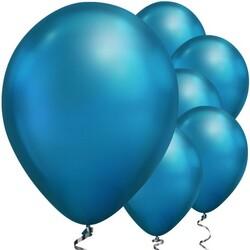 Parti Dünyası - Mirror Krom Balon Mavi Renk 6 Adet