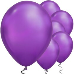 Parti Dünyası - Mirror Krom Balon Mor Renk 6 Adet