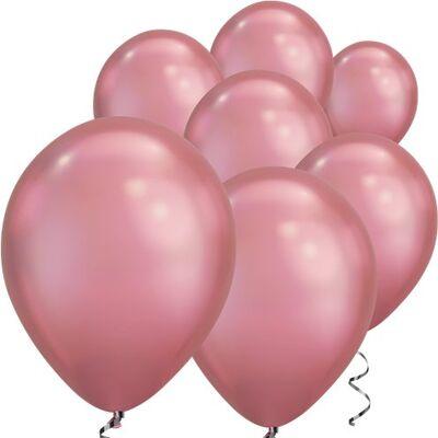 Mirror Krom Balon Rose Gold Renk 50 Adet