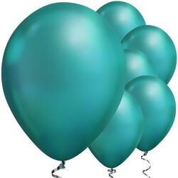 Parti Dünyası - Mirror Krom Balon Yeşil Renk 50 Adet