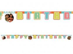 Parti Dünyası - Moana Happy Birthday Harf Afiş