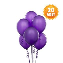 Parti Dünyası - Mor Renk 20 Li Latex Balon