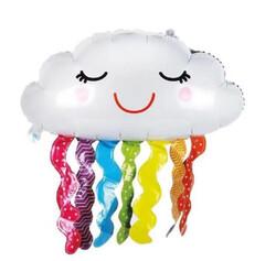 Parti Dünyası - Mutlu Bulut Folyo Balon Renkli Püsküllü 75 cm