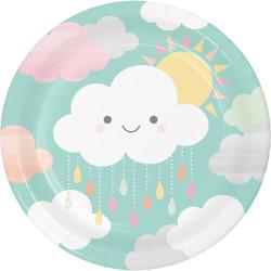 Parti Dünyası - Mutlu Bulutlar Tabak 8 Adet