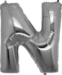 Parti Dünyası - N Harfi Gümüş Folyo Balon