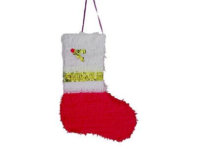 Noel Baba Çorabı Şekilli Pinyata