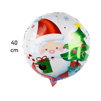 Noel Baba Folyo Balon Orta Boy 40 cm