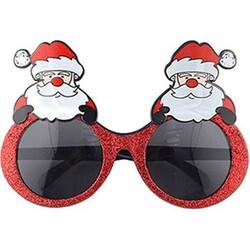 Parti Dünyası - Noel Baba Simli Kırmızı Gözlük