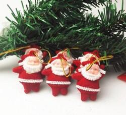 Parti Dünyası - Noel Babalar Asılabilir Ağaç Süsü 6 Adet