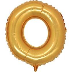Parti Dünyası - O Harfi Altın Renk Folyo Balon 100 cm