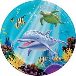 Parti Dünyası - Okyanus Partisi Tabak 8 Adet
