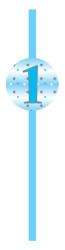 Parti Dünyası - One Little Star Mavi 25 li Pipet
