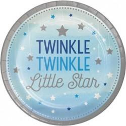 Parti Dünyası - One Little Star Mavi 8 li Tabak