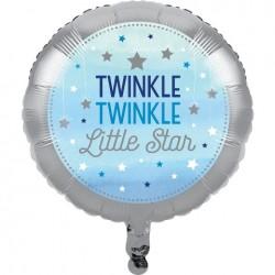Parti Dünyası - One Little Star Mavi Folyo Balon